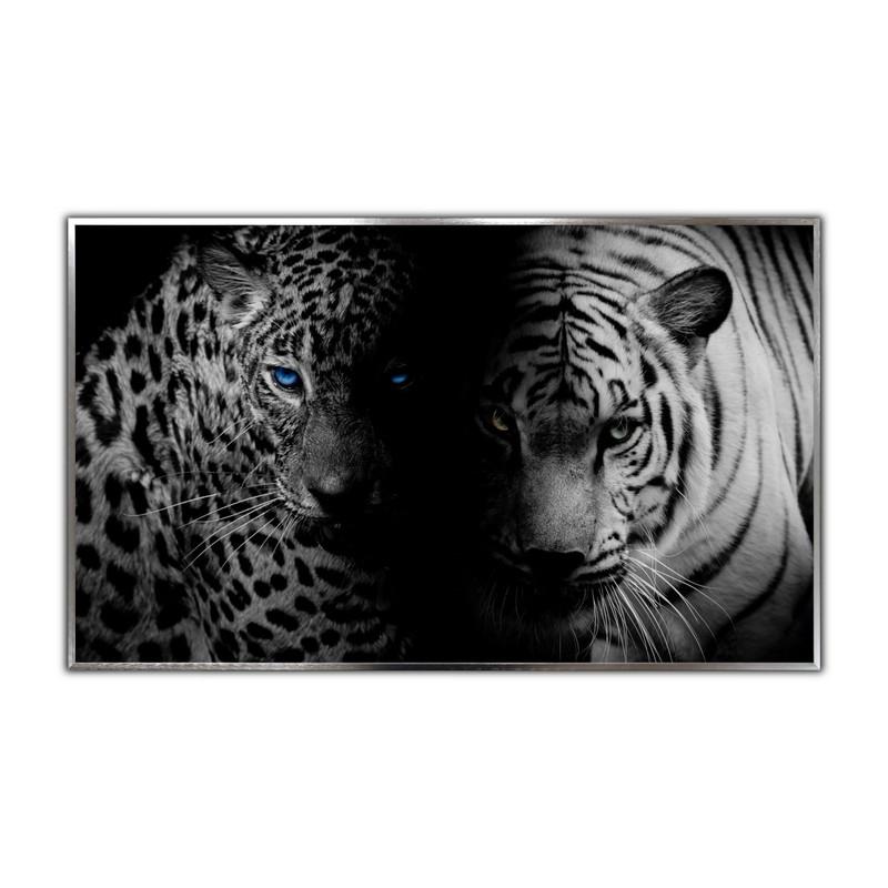 STEINFELD® Glas Infrarotheizung mit Motiv Tiger Jaguar