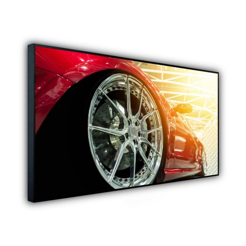 STEINFELD® Glas Infrarotheizung mit Motiv Sportfelge