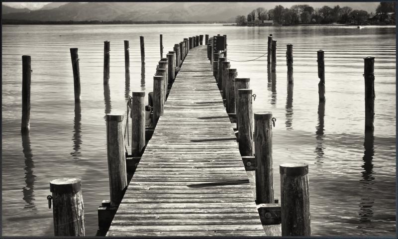 Holz Brücke Motiv  017