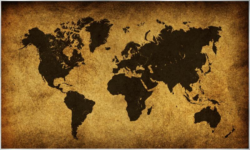 Weltkarte Motiv - 009
