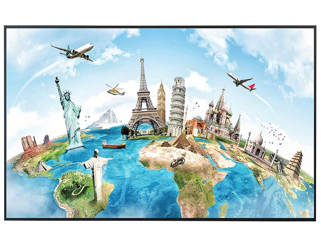Ecowelle Infrarotheizung mit Motiv Weltkarte 73