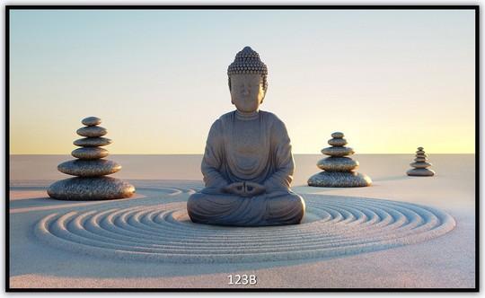 Könighaus Infrarotheizung mit Motiv Buddha 123