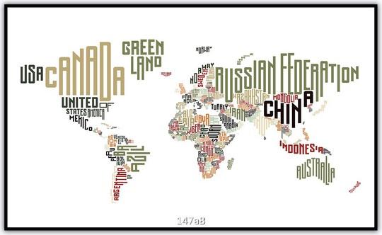 Weltkarte 147