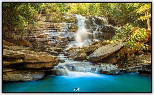 Könighaus Infrarotheizung mit Motiv Wasserfall 25