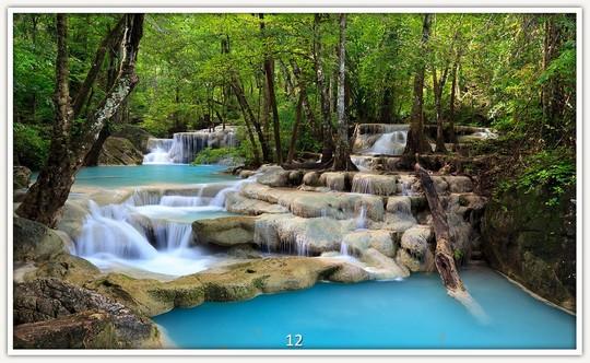 Könighaus Infrarotheizung mit Motiv Wasserfall 12