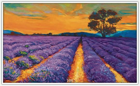 Könighaus Infrarotheizung mit Motiv Lavendelfeld 194