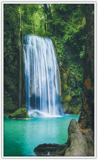 Könighaus Infrarotheizung mit Motiv Wasserfall 6