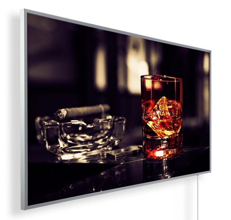 Könighaus Infrarotheizung mit Motiv Whiskey & Zigarren 167