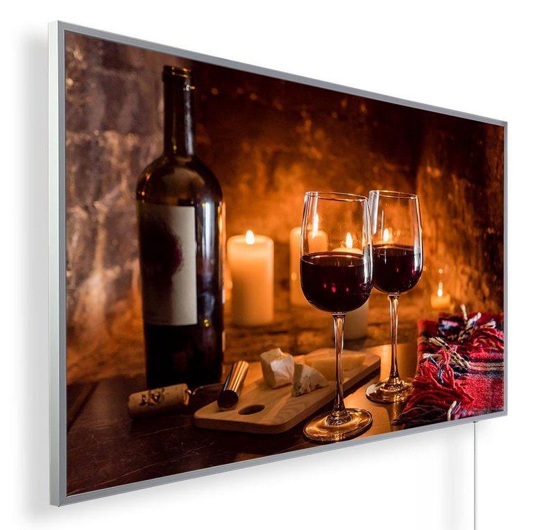 Könighaus Infrarotheizung mit Motiv Käse & Wein 170