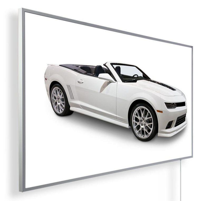 Könighaus Infrarotheizung mit Motiv Cabrio Weiß 250