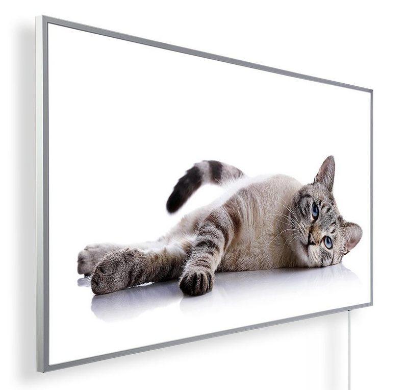 Könighaus Infrarotheizung mit Motiv Katze 80