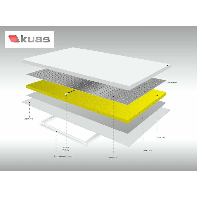 Kuas ISP-Serie Infrarotheizung Tüv geprüft von 300 - 1100 Watt